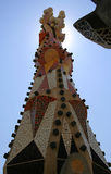 Gaudi's Tower. Tower of the Sagrada Familia in Barcelona, Spain royalty free stock photos