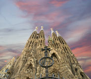 gaudi sagrada Ισπανία familia του Antoni Βαρκελώνη Στοκ εικόνες με δικαίωμα ελεύθερης χρήσης