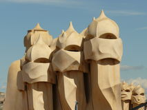 Gaudi sand sculptures, Barcelona, Spain Royalty Free Stock Images