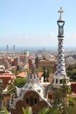 gaudi spain för barcelona byggnadsstad Arkivfoton