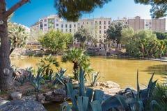 Gaudi Square in Barcelona. Royalty Free Stock Image