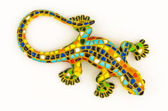 Gaudi style lizard toy Royalty Free Stock Images