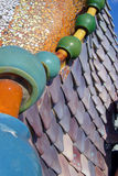 Gaudi Tiles. Tiles on the roof of Casa Batllo by Antonio Gaudi Royalty Free Stock Photography