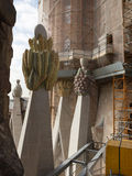 Gaudi Tower on the facade of the Nativity Royalty Free Stock Photo