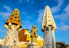 Gaudi towers architecture Royalty Free Stock Photography