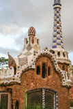 Gaudi& x27;s Parc Guell at Barcelona Stock Images