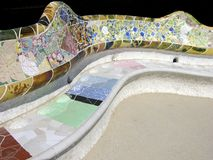 Gaudis Arbeit im Park Guell stockbild