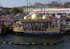Gaudy Balik Ekmik boat, Istanbul Royalty Free Stock Photography