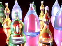 Gaudy Bottles 1 Royalty Free Stock Images