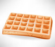 Gaufre belge simple Photo libre de droits
