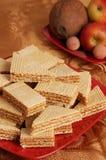 Gaufre de caramel sur la table Photo libre de droits