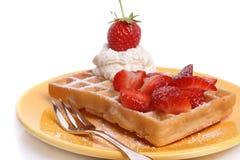 gaufre de fraise Photo libre de droits