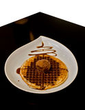 Gaufre et glace Photo stock