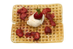 Gaufre savoureuse Images stock
