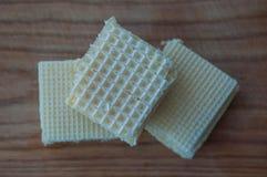 Gaufres avec du lait condensé Photos stock