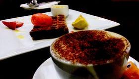 Gaufres délicieuses et café d'un chocolat photo stock