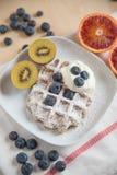 gaufres de fruit frais Images libres de droits