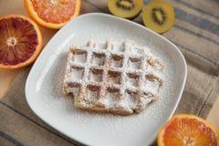 gaufres de fruit frais Photographie stock libre de droits