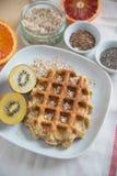 gaufres de fruit frais Images stock