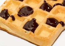 Gaufrette avec du chocolat Images stock
