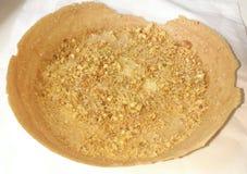 Gaufrette croustillante avec l'arachide et le sucre Images libres de droits
