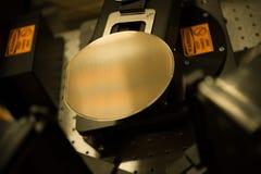 Gaufrette dans le processus de fabrication Image libre de droits