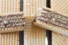 Gaufrette de chocolat Photo stock