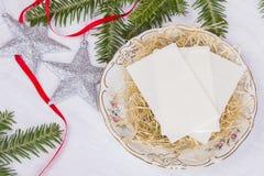 Gaufrette de Noël Photographie stock libre de droits
