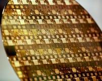 Gaufrette de silicium Images libres de droits