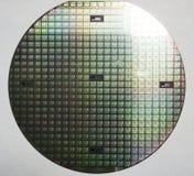 Gaufrette de silicium, puces multiples Image libre de droits