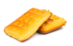 Gaufrettes de biscuit sur un fond blanc Images libres de droits