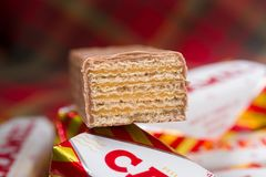 Gaufrettes de caramel du ` s de Tunnock photos stock