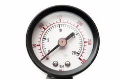 Gauge in bar. and psi Stock Photography