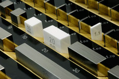 Gauge block Stock Photo