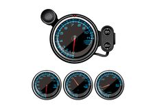 Gauge Car Accessories Royalty Free Stock Photos