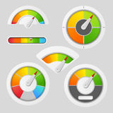 Gauge chart meter elements Royalty Free Stock Images