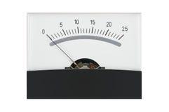 Gauge. Classic analog measuring gauge meter Stock Image