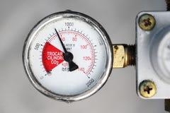 Gauge closeup. Industrial pressure equipment - Gauge closeup stock images