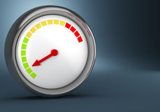 Gauge on dark background Royalty Free Stock Images
