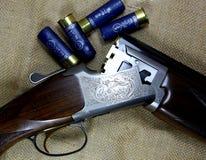 12 gauge double barrelled shotgun Royalty Free Stock Photo