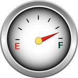Gauge for measure of fuel or money Royalty Free Stock Image