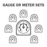 Gauge meter. Vector icon set design Stock Photo