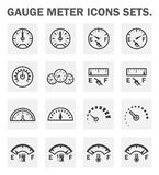 Gauge meter icons Stock Image