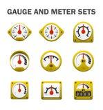 Gauge meter sets Stock Images