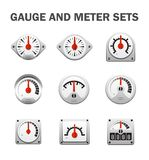 Gauge meter icon. Gauge meter vector icon set design on white Royalty Free Stock Photography