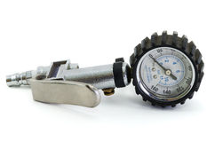 Gauge pressure meter. On white background Stock Image