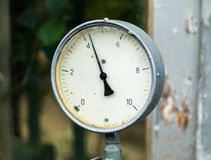 Gauge pressure in the pipeline Stock Images