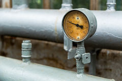 Gauge pressure in the pipeline Royalty Free Stock Images