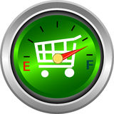 Gauge for shopping and money measure Royalty Free Stock Photography