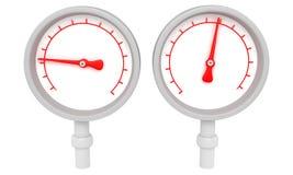 gauge två royaltyfri illustrationer